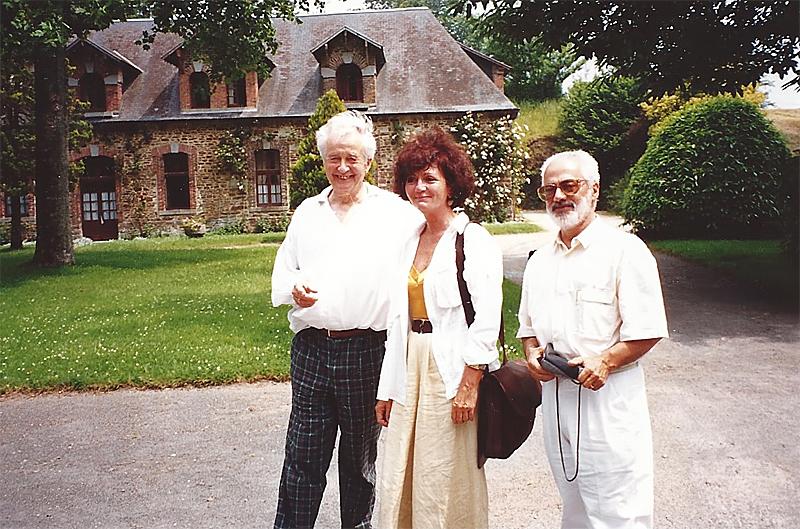 À Cerisy, Gilbert Durand, Françoise Bonardel et José Lima de Freitas