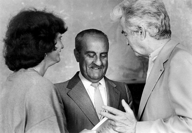 Françoise avec Jean Brun et Gilbert Durand au cercle Eranos à Ascona (Tessin), 1981